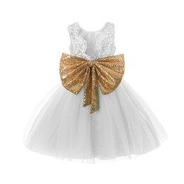 Canada Princesse Fille Porter Sequin Sans Manches Robe Arc Pour Fête D'anniversaire Costume Pour Tout-Petits Pour Des Événements Occasion Dentelle Maille Tutu Robe Offre
