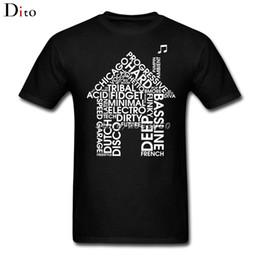 Wholesale Green T House - Creative Acid House Music Tees Shirt Men's Boyfriend White Short Sleeve Custom Plus Size Cotton T-shirts
