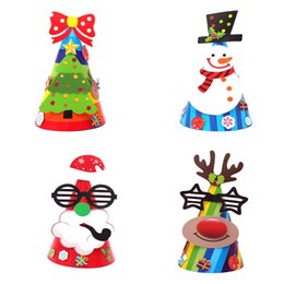 Estrelas papel de natal on-line-Estrelas Holiday novos Natal Imprimir Cap Xmas Presentes de Papai Noel Papel Cap Atacado frete grátis # 30