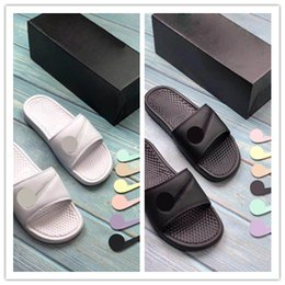 Wholesale straw shoes men - Original With box X Benassi Jdi Ltd Velcro slippers Slide sandals mens basketball shoes Free Shipping outdoor Casual Shoes sneakers US 5-13
