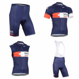Wholesale Fast Bib - IAM Cycling Short Sleeves jersey (bib) shorts Sleeveless Vest sets Summer hot fast dry Ropa Ciclismo racing bike wear resistant A41408