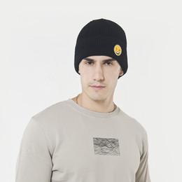 cappelli invernali divertenti per le donne Sconti Nuovo cappello di lana autunno e inverno donna uomo coreano faccia buffa cappello a maglia outdoor ispessimento più copricapo in velluto