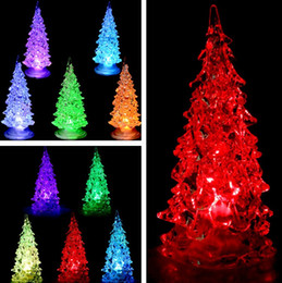 Wholesale bright christmas tree - Newest 7 colors Changing Christmas Decorate Christmas Tree Light LED Light Festive Night bright Lights for Xmas Battery Include T2I358