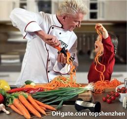 Platos de niños online-Cortador de verduras en espiral Cortador de frutas Peeler para herramienta de cocina Fácil para alimentos Niños comiendo Plato de niños Cortador en espiral Cortador de cocina Twister