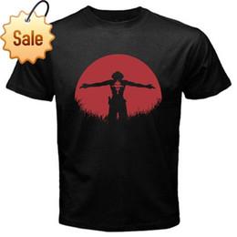 Chapeau de pirate rouge en Ligne-Date 2018 Ace Portgas rouge lune chapeau de paille pirate T-Shirt Noir Basic Tee Hommes Chemises Hommes Vêtements Nouveauté Cool