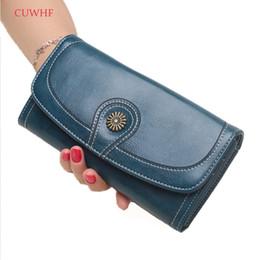 Vente chaude cire à l'huile femmes embrayage nouveau portefeuille en cuir portefeuille en cuir femmes longues femmes sac à main sangle porte-monnaie peut être mis iPhone 7 ? partir de fabricateur