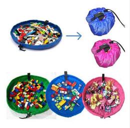Canada Sac de rangement de jouet pour enfants Grand 150cm Tapis de rangement portable pour Lego Play Tapis de boîte US BBA79 cheap lego storage bag Offre