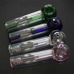 """Wholesale Large Spoons - 6"""" Inch Glass Pocket Bubbler Pipe with Large Side Carb Hole Mini Glass Spoon Hand Pipe Tobacco Smoking Water Bong Pocketbubbler Pipes"""