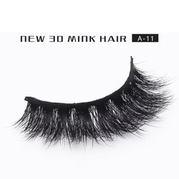 Wholesale Siberian Mink Eyelash Extension - False Eyelashes 100% Siberian 3D Mink False Eyelash Long Individual Eyelashes Mink Lashes Extension 1pair lot