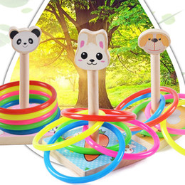 Wholesale Wooden Games Outdoor - New Children Outdoor Fun & toy sports Tossing Ring joy ferrule throwing game parent child interaction Toys Indoor Toys