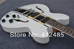 Wholesale Electric Guitar Hollow Body White - Free shipping Wholesale price new style ES 333 FREE SHIPPING Hollow Tom Delonge ES-333 White Electric Guitar