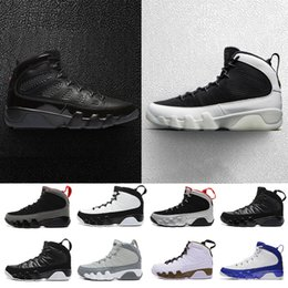 Wholesale Black Tours - 2018 Bred 9 LA Oreo Man basketball shoes black red white shoe space jam Tour Yellow PE 9s Men sport trainer Sneakers 41-47