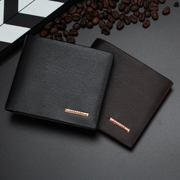 Wholesale vintage mens leather coin purse - Wholesale- Padieoe Genuine Men's Leather Wallet Fashion Mens Slim Short Purses Luxury Brand Male Clutch Wallets Business Man's Card Holder