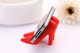 Wholesale Cute Cellphone Holder - big Creative Mobile Phone Stands Mounts Holder Cute High Heels stand Shoes Shaped for Cell Phone Multifunctional Cellphone Smartphone Tablet