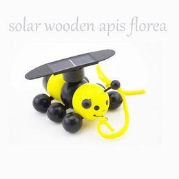 Wholesale Cute Solar - Wholesale- 2016 hot sale freeship action Solar EnergyThe global latest solar cute wooden bee plane toy Solar bee turn away toys