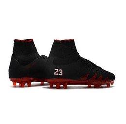 Nueva venta 2017 negro rojo Hypervenom Phantom II FG Neymar x JR Soccer Cleats CR7 interior zapatos de fútbol para hombres desde fabricantes
