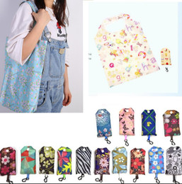 2019 saco de dobra de nylon das senhoras Nylon Folding Sacolas de Compras Portáteis Reutilizáveis Eco-Friendly saco de dobramento Sacos de Compras Senhoras Sacos de Armazenamento 60 projeto KKA5836 saco de dobra de nylon das senhoras barato