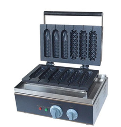 Gaufres à la machine en Ligne-220v 110v type mélangé hot dog lolly gaufrier machine hot dog gaufrier boulanger maïs bâton de gaufre