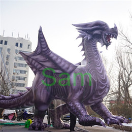 Wholesale City Decorations - 3m High x 5m Length giant inflatable mascots for city parade Dino inflatable dragon
