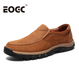 Wholesale First Sewing - Men's Outdoor Shoes First Layer Leather Casual shoes High Quality Mountaineering Oxfords Genuine Leather men