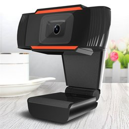Wholesale video camera webcam - Original Mini Camera HD Webcam 30 Degrees Rotatable Digital Video Web Camera Built In Sound Absorption Microphone for Computer