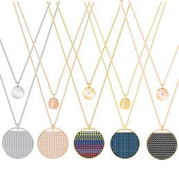 Wholesale new swarovski necklace - CHAMS Swarovski 2018 new necklace rainbow multicolor plating pendant original rose gold jewelry factory direct