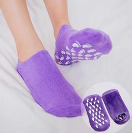 Wholesale Gel Spa Socks - Moisturizing Socks Reusable SPA Silicone Gel Socks Whitening Exfoliating Treatment Smooth Socks Moisturize Foot Care Tools CCA8972 100pair