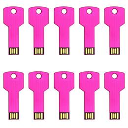 Argentina Envío gratis 10 unids / lote unidades flash USB 8 GB Metal Key diseño en forma de memorias USB para almacenamiento de datos de computadora cheap free shape key Suministro