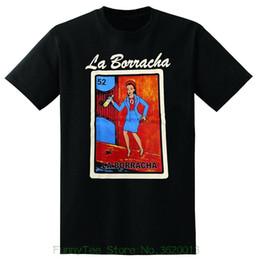 T-shirt Graphique La Borracha Homme à la Mode Loteria Drôle Drinking Shirt Noir ? partir de fabricateur