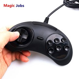 Controlador sega on-line-Magic_jobs new wired usb clássico gamepad 6 botões usb game controller joypad game handle para mega pc sd2 pc mega drive