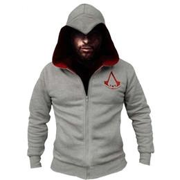 assassins hoodie Rabatt Mode Männer Assassins Creed Kapuzenpulli Hombre Herbst Winter Solide Hoodie Sweatshirts Männer Cosplay Chadal Coole Kleidung 3xl