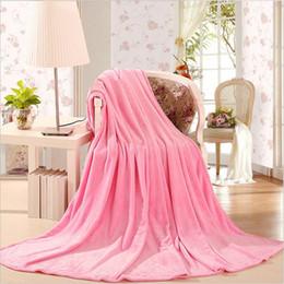Wholesale Flannel Sheets Full - Solid color Flannel Blanket sofa bedding Throws soft Plaids winter Warm flat sheet 120*200cm 150*200cm 180*200cm 200*230cm