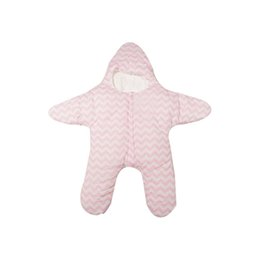 Wholesale Baby Thick Blankets - Wholesale- Blanket 2017 Infant Baby Sleeping Bag Star Shaped Winter Warm Thick Stroller Sleeping Sack D40