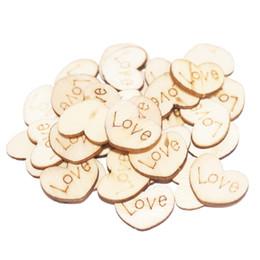 Madera sin terminar online-100 piezas 15 mm en blanco corazón rebanadas de madera discos corazón de madera amor inacabado artesanía natural suministros fiesta boda decoración