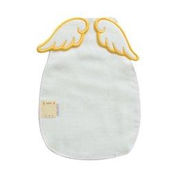 Asciugamani da principessa online-Creativo Princess Baby Girl Asciugamano 6 Strati Garza Traspirante Posteriore Pad Ali Bambini Assorbenti Asciugamani Toallas de sudor A3