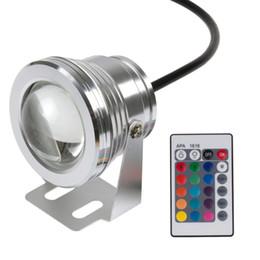 Cambio de color bajo el agua luces led online-10W 12v bajo el agua RGB Led Light 1000LM impermeable IP65 fuente piscina acuario lámpara 16 cambio de color 24key IR controlador remoto