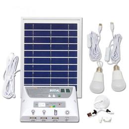 usb solar para celular Desconto Kit de Iluminação do Painel Solar Solar Home DC Kit Sistema USB Carregador Solar com 2 Lâmpadas LED de Emergência Porta USB com Carregadores de Telefone Celular