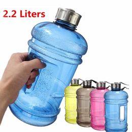 2019 piccoli occhiali da caffè 2.2L Grande BPA Free Sport Gym Drink Tappo di Bottiglia d'acqua in esecuzione Training Camping non può riempire acqua calda 5 colori DEC283