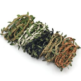 Wholesale Vine Headband - 100cm Artificial Green Flower Vine Leaves Rattan For Home Wedding Party Decoration Foliage DIY Garland Headband Hair Accessories
