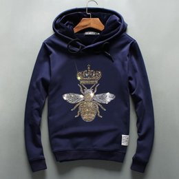 Wholesale Bee Board - Autumn and winter fashion Metrosexual hoodie fear God kanye west hip hop Small bee personality Hot drilling skate board With velvet men and
