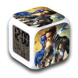 Wholesale Flash Alarm Clock - LED Digital Alarm Clocks X-Men: Days of Future Past Night Light Color Flashing Bedroom alarm clock Kids Watch reloj despertador