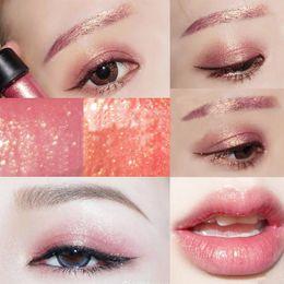 Wholesale glitter powder eye pigments - M Brand Eyes Cosmetics Metallic Glitter Loose Eyeshadow Powder Waterproof Shimmer Pigments 2 Color Eye Shadow 2.5g