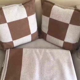 moomin hülle Rabatt 2018 heiße designs marke orange plaid kissenbezug Home Sofa werfen kissen orange wolle kaschmir h kissenbezüge