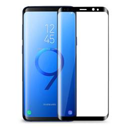 2019 retailbox pour écran protecteur Pour S8 S9 S9 Plus S8 plus Note 8 Note 9 Protecteur d'écran en verre bombé à couverture totale S6 S7 Edge 3D en verre trempé avec Retailbox retailbox pour écran protecteur pas cher