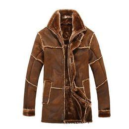 Canada Veste en cuir homme automne-hiver style nordique chaud avec veste de fourrure vintage longue veste en daim manteau la nouvelle arrivée cheap vintage fall jacket Offre