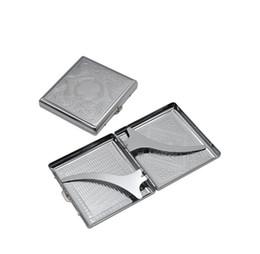 Bâton boîtier en métal en Ligne-Étui à cigarettes en métal sculpté avec 18 crochets en métal