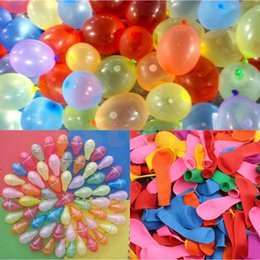 Wholesale beach decorative - Latex Water Balloon Balls Water Bomb Pump Rapid Injection Summer Beach Games Water Sprinking Ballons 500Sets OOA4803