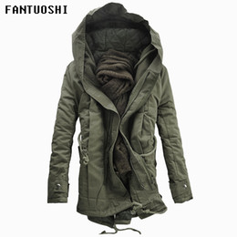e164adca29dba 2018 New Men imbottito Parka Cotton Coat Winter Hooded Jacket Mens Moda cappotto  di grandi dimensioni Spessore caldo Parka Nero verde militare 6XL sconti ...