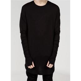 Canada T-shirt prolongé des hommes de rue de rue T-shirt prolongé des hommes Vêtements incurvés Hem longue ligne Tops Tees Hip Hop urbain vierges Chemises cheap urban tops Offre