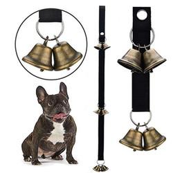 portas de cães Desconto Sinos de cão para Treinamento Potty Campainha Corda Housetraining e Comunicar Alarme Campainha para cães Sino de Porta Ajustável para Puppy Dogs
